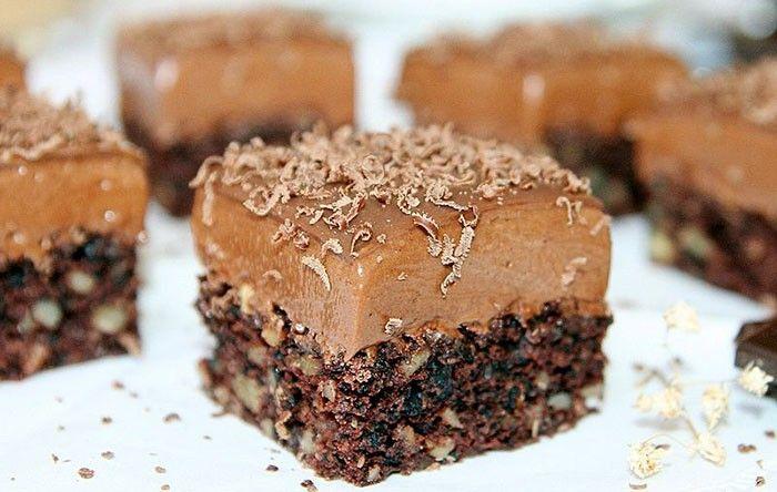 Ořechový zákusek s čokoládou