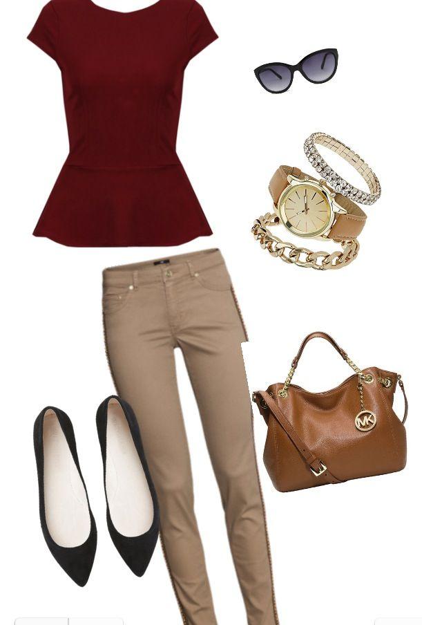 Red + khaki inspiration