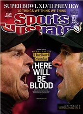 There will be Blood - Jim and John Harbaugh January 28, 2013 Sports Illustrated Cover - www.sicovers.com