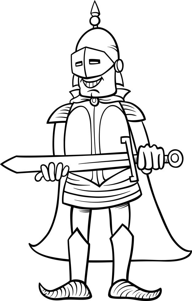 Dibujo De Caballero Con Espada Para Colo Premium Vector Freepik Vector Libro Diseno Hombre Caracter Espada Dibujo Espadas Caballeros