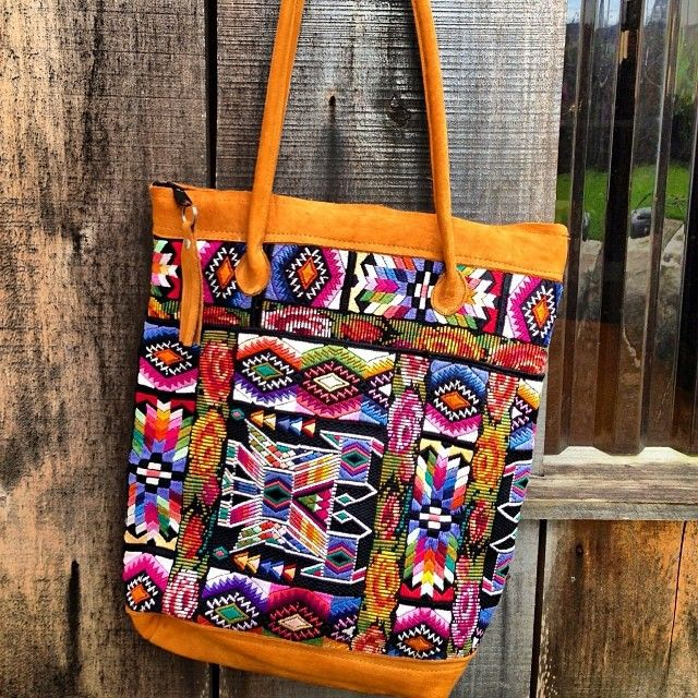 guatamalan textiles and leather into chic bags! From nena and co.