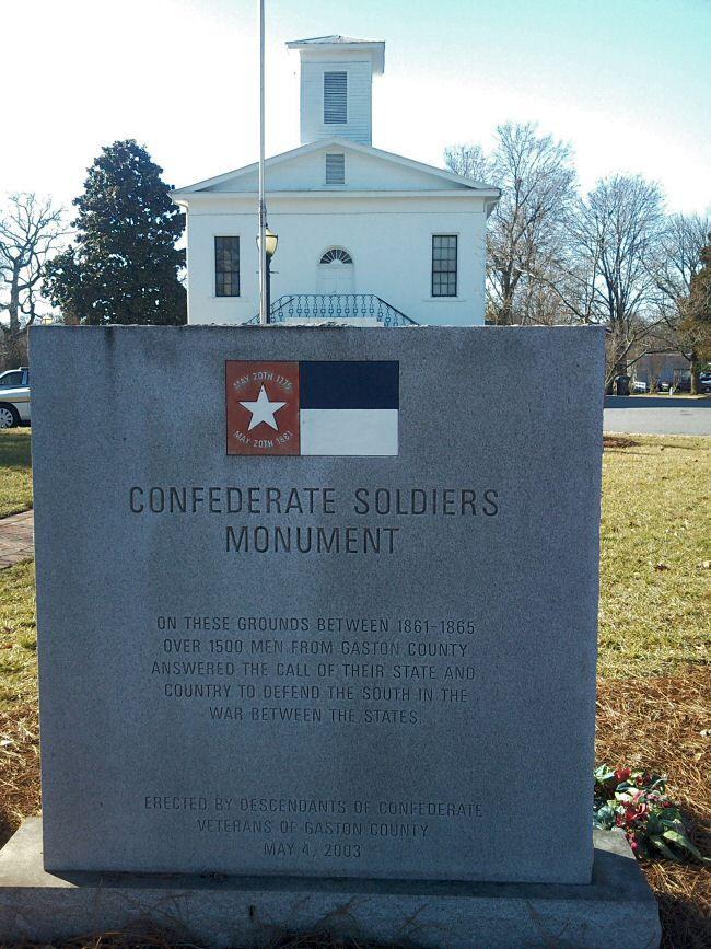 Gaston County, North Carolina Confederate Monuments