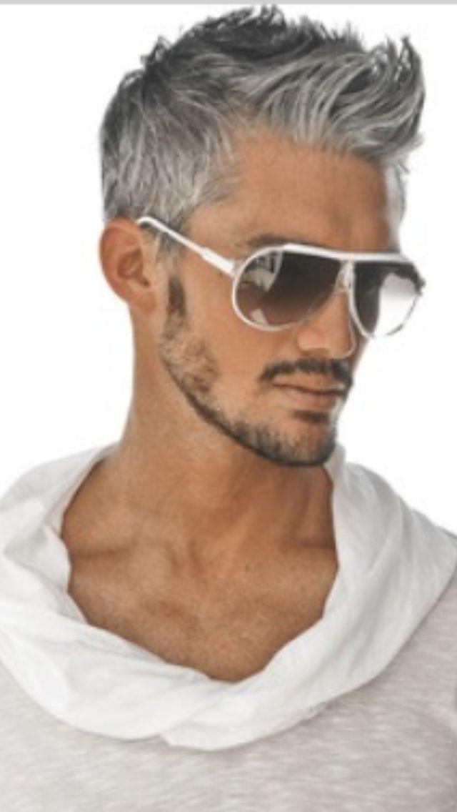 Super 1000 Ideas About Grey Hair Men On Pinterest Silver Hair Men Short Hairstyles Gunalazisus
