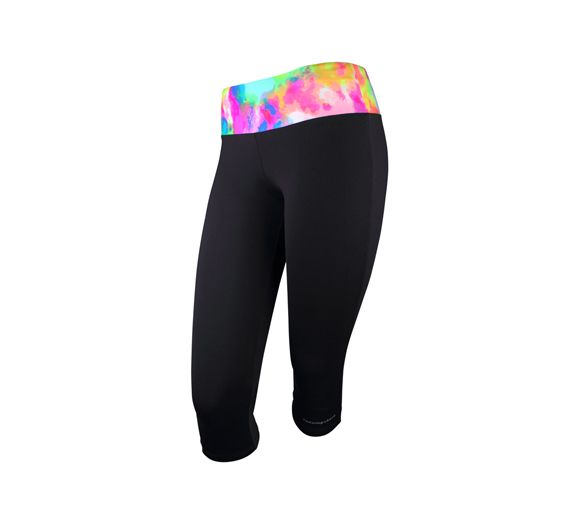 A major pop of colour through the waistband, the Mid Rise Front Row 3/4  Tight from Running Bare are a unique, colourful pair of tights ...