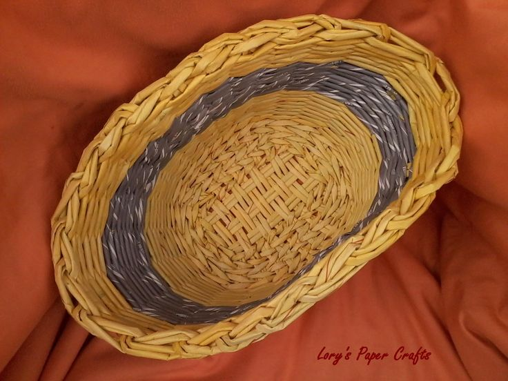 paper basket made by Lory's Paper Crafts