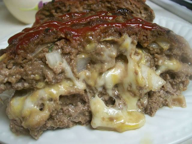 Stuffed meatloaf, Cheese and Pork rinds on Pinterest