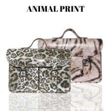 Oldschool Bags- animal print. Verkrijgbaar bij www.bornidentity.nl