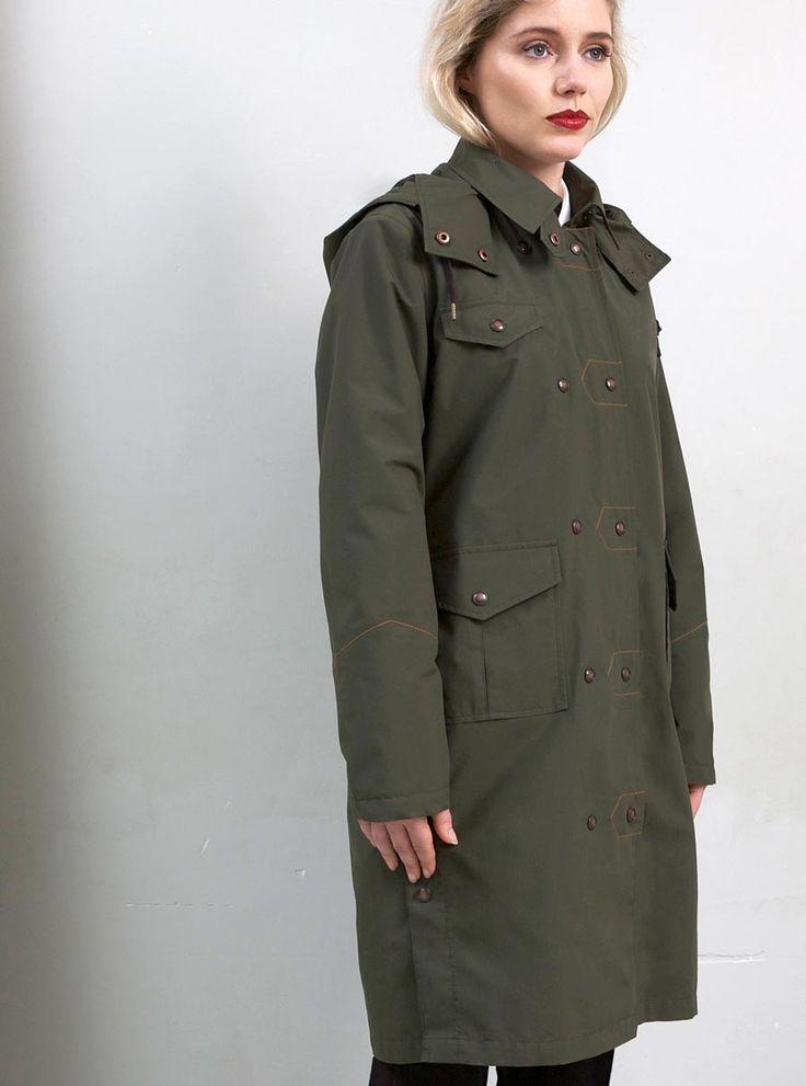 WATERDICHT Amsterdam Straincoat Urban, stylish raincoat Understated chic is the household signature of Waterdicht Amsterdam.