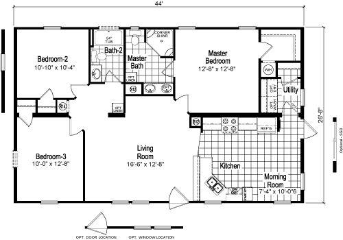 Mobile Home Dealers In Ga >> Champion Dealership (Lake Hartwell, Ga.) - CVS L4443U2-0 * 3 Bedrooms / 2Baths - 1173 Square ...