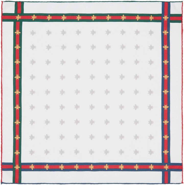 925794b651 Gucci Bee pattern silk pocket square | Scarf | Pocket square, Men's ...