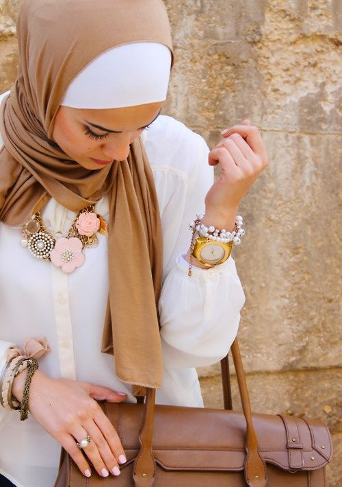 beige hijab- love the colour