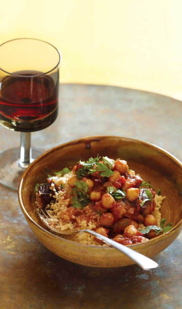 Chickpea and Date Tagine Recipe | Vegetarian Times (for gluten free use quinoa instead of cous cous)