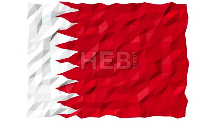 Flag of Bahrain 3D Wallpaper Animation, National Symbol, Seamless Looping Footage... ... by #Hebstreit