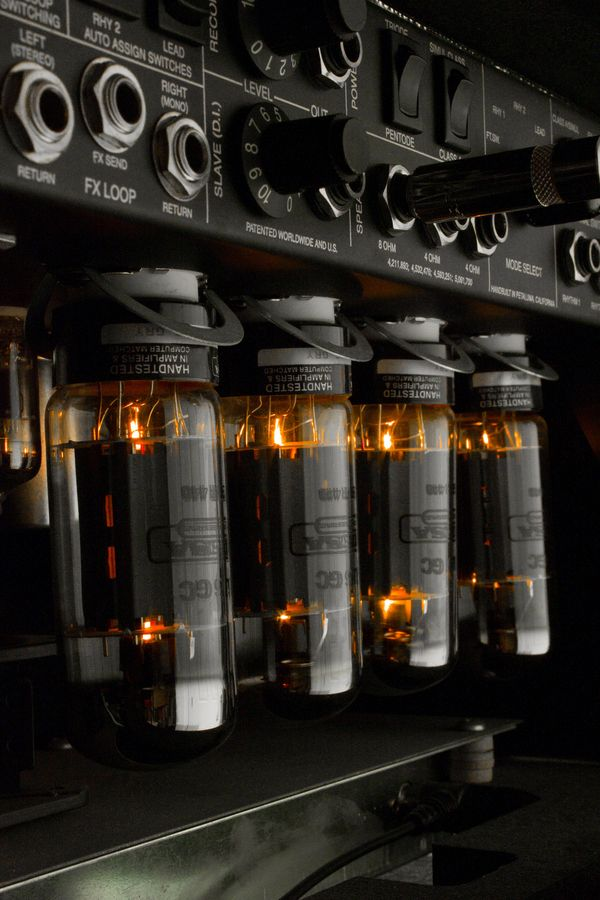 Mesa/Boogie Mark IV. Love the glow of the power tubes.