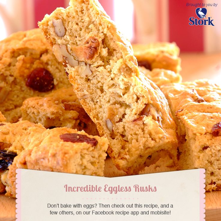 Eggless rusks #recipe