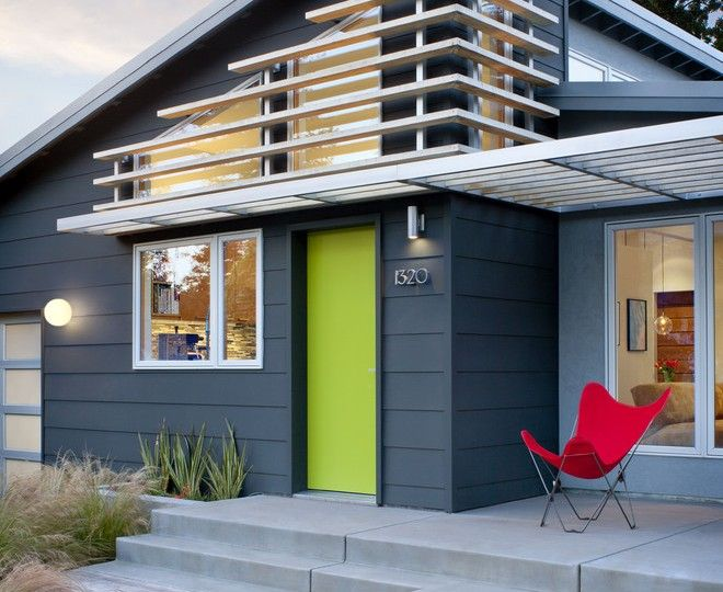 Good Looking exterior house color Midcentury Exterior