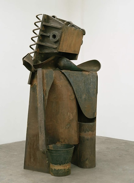 "Sir Anthony Caro ""Goddess"" 2009 steel rusted"