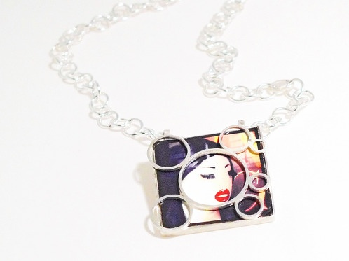 "http://www.cityblis.com/item/9696      ShopWindow ""JapanKiss"", Via XX Settembre, Genoa - $ 300 by OGIGIOIELLI      Necklace, silver, original pic."