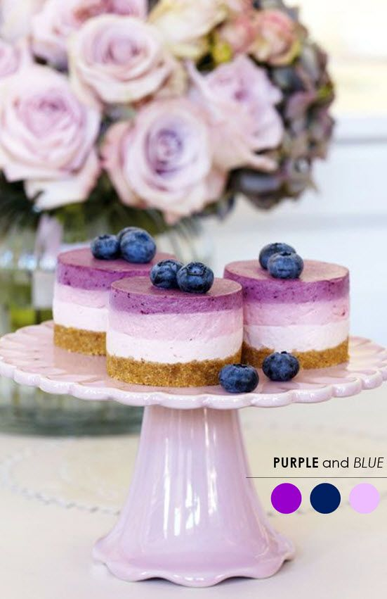 Purple and Blue color palette for a wedding via The Perfect Palette. #wedding #help