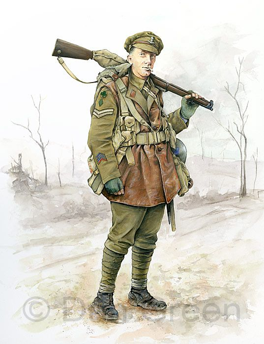 Corporal Royal Dublin Fusiliers 1918 by Dan Green