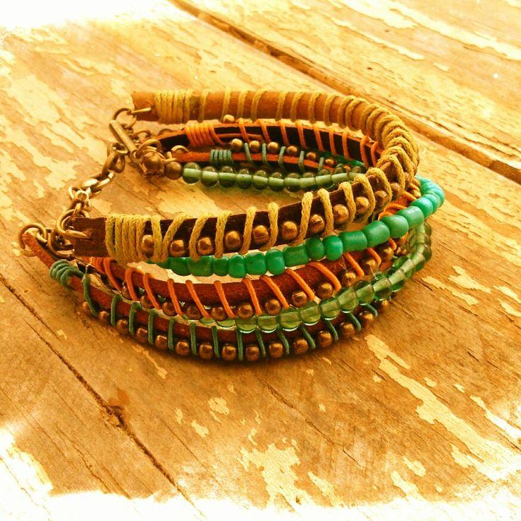 #pulsera #cuero #bohodesign #bohemiandesign #diseñohechoenchile #diseñohechoamano #design #jewelrydesign