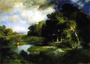 A Pastoral Landscape  Thomas Moran