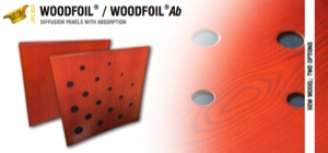 Woodfoil®is a slightly concave shaped diffuser panel, made of varnished birch plywood on a soft wood structure. This diffuser is great to be used in concert halls, such as theaters and auditoriums and ideal for building acoustic diffuser shells. There are two options of this model: the Woodfoil® diffuser panel, which is made of a plain birch plywood, and the Woodfoil Ab® , which has different holes that provide it with a higher absorption coefficient.