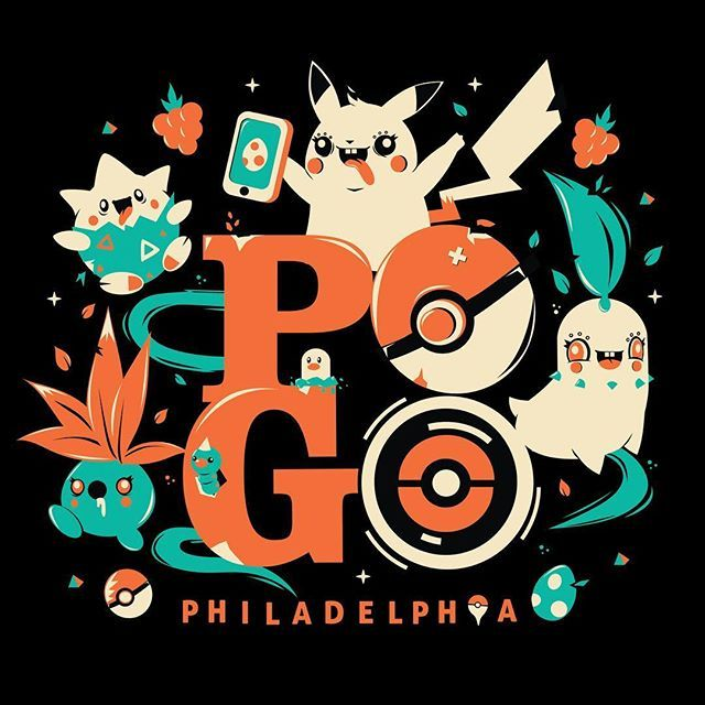 Had the pleasure of making this tee design for @matteyer and his brand @wearliberty for the upcoming event in Chicago, Pokémon Go fest on July 22nd. ^__^ #pokemongo #pokemon #pikachu #oddish #chikorita #chicago #pogo #philly #shirt #teedesign by yemayema