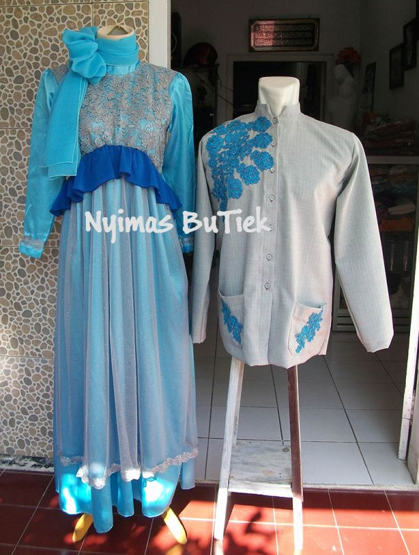 COUPLE GAMIS PESTA LINDA