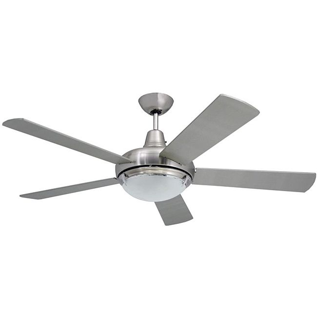 Add Modern Appeal To Your Home With This Contemporary Two Light Ceiling Fan The