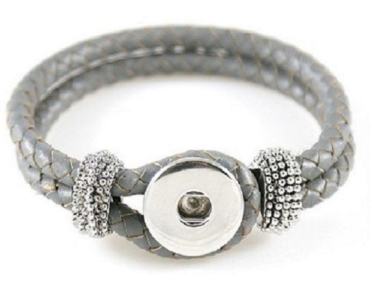 #Armband Noosa style grijs http://www.antiro.nl/