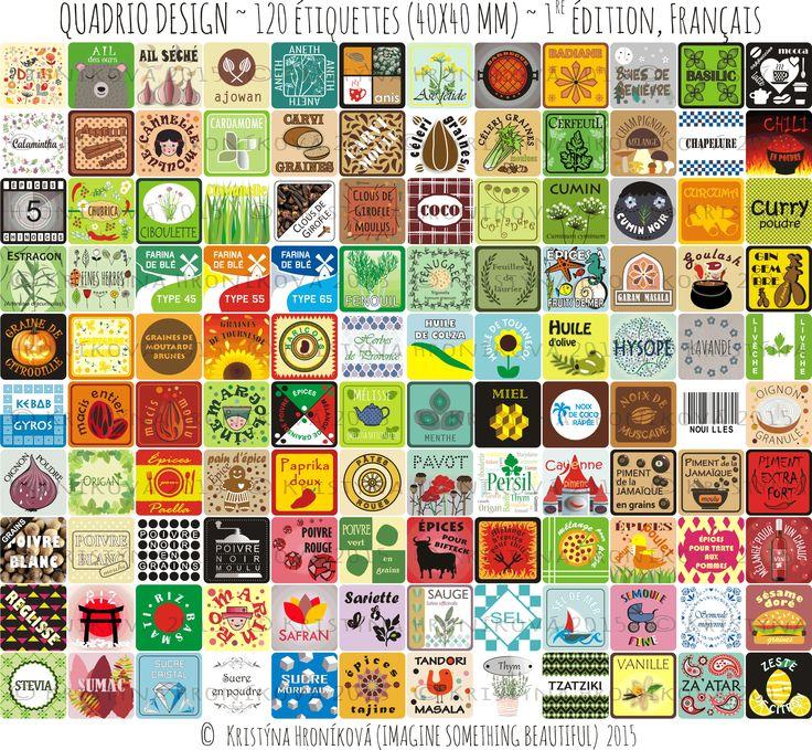 120 De Belles Étiquettes pour Pots à Épices - Étiquettes De Cuisine (Français)  http://www.ebay.com/itm/-/181988407320?