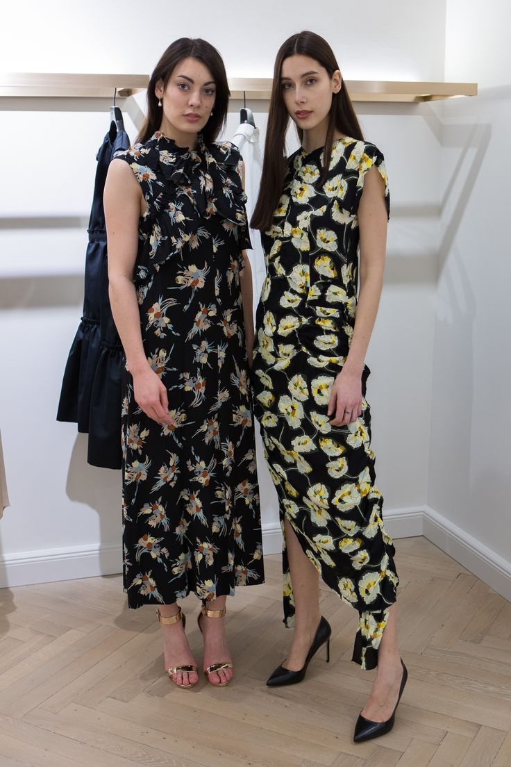 THESE FLORAL SILK CREPE DRESSES BY MARNI ARE NOT ONLY SUPER STYLISH BUT ALSO A REAL SLIMMING WONDER DUE TO THEIR SPECIAL ASSYMETRICAL & COMPLEX CUT. WEARABLE WITH PUMPS OR HEELED SANDALS FOR A DINNER AT IT-RESTAURANT OR WITH BOOTS & LEATHER JACKET FOR A CONCERT OF YOUR FAVOURITE BAND.    NOW AVAILABLE AT Di`BEL