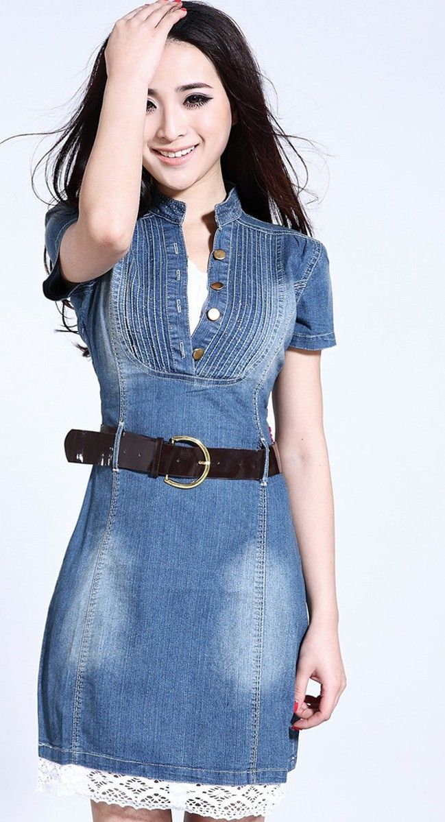 91 best denim images on Pinterest | Skirts, Denim dresses and Blue ...