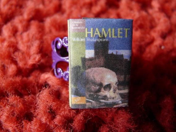 Ring  Miniature Book Hamlet by ChocolatRose on Etsy, $20.00