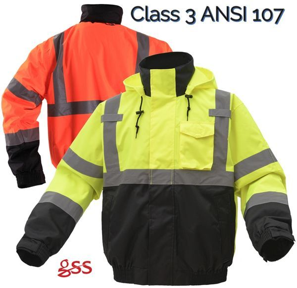 Gss Safety 8003 8004 3 In 1 Class 3 Waterproof Hi Vis Jacket In 2020 Jackets Safety Clothing Winter Work Jackets