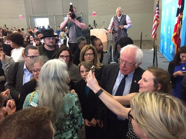 In Cleveland, Bernie Sanders says Democrats need a 'progressive agenda that addresses the needs of working families' // In Cleveland on Monday, Vermont Sen. Bernie Sanders railed against economic inequality, the influence of corporate America and argued for expansion of social safety-net programs.