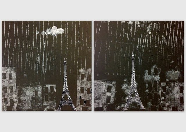 les petites têtes de l'art: Paris sous la pluie
