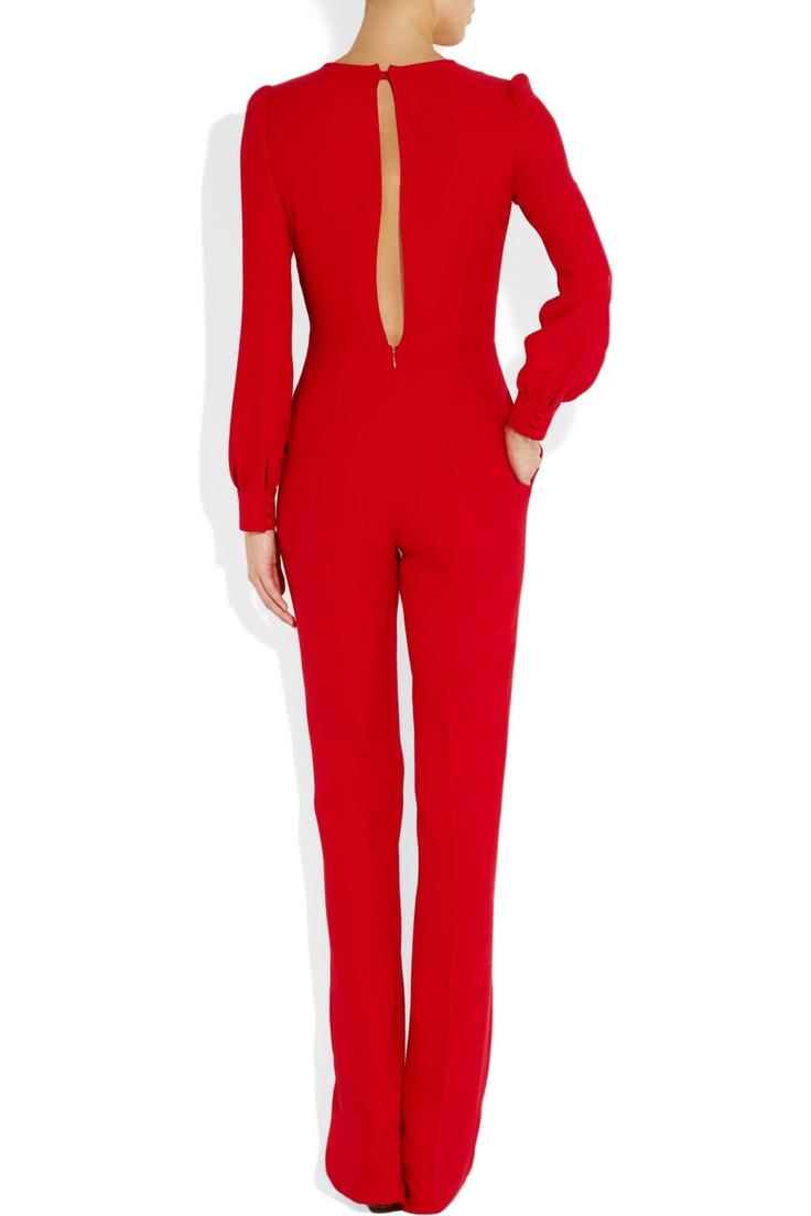 Valentino | Silk-crepe jumpsuit | NET-A-PORTER.COM