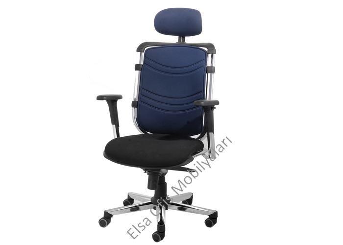 Krom ve çeşitli fonksiyonlarla donatılmış kaliteli fileli ofis koltuğu modern elsa serisi. Alm ayaklı senkron mekanizmalı mükemmel bir ofis koltuğu.