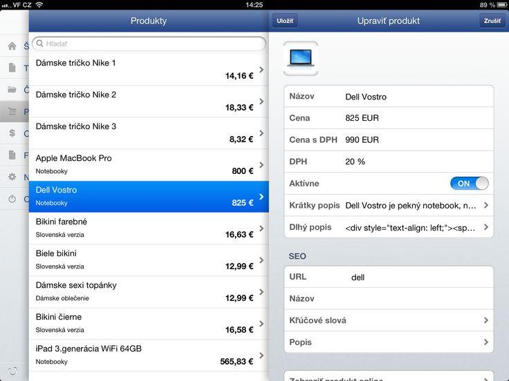 detail produktu vo Flox app na iPade