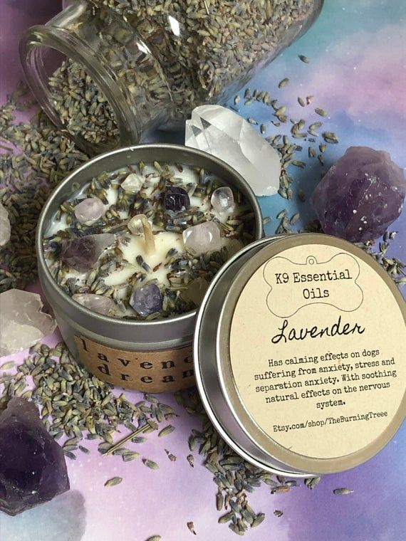 K9 Essential Oils Candles, Crystal Candle, Dog Calming Candle, Pet Candle, Anxiety Candle, Pet Stres