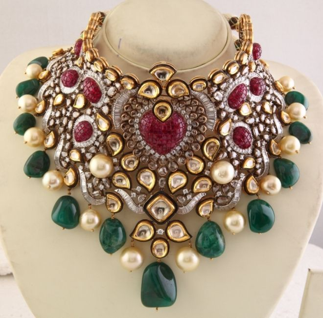 Best Diamond Jewellery of The Year (Bridal) Awarded to Anmol Jewellers, Mumbai.jpg 660×650 pixels