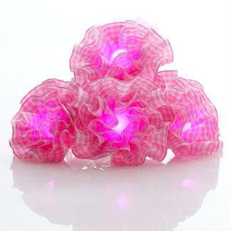 Kids String Lights- Pink Gingham Rosette