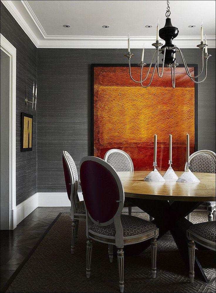 Современные столовые с серым цветом_11
