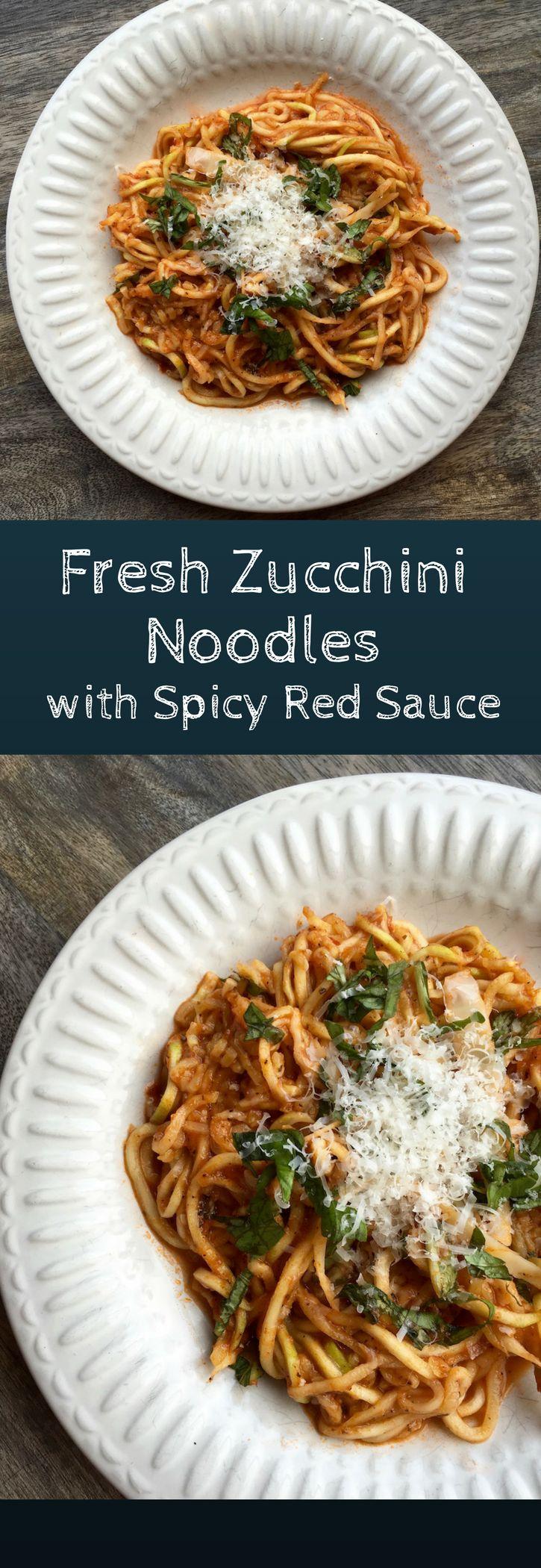 Zucchini Noodles with Arrabbiata Sauce