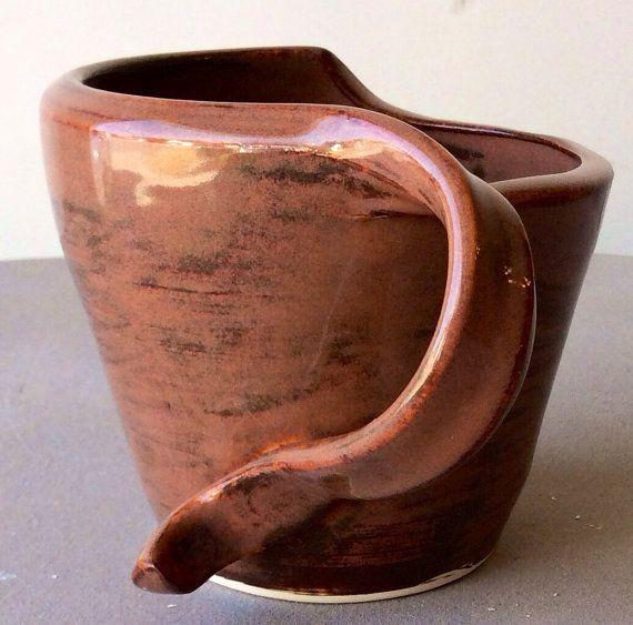 Large Plum and Pink Ceramic Mug by CharlestonCeramics on Etsy, $25.00