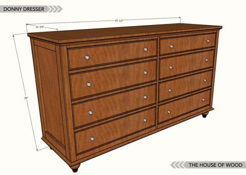 FREE PLANS to build this 8-drawer dresser