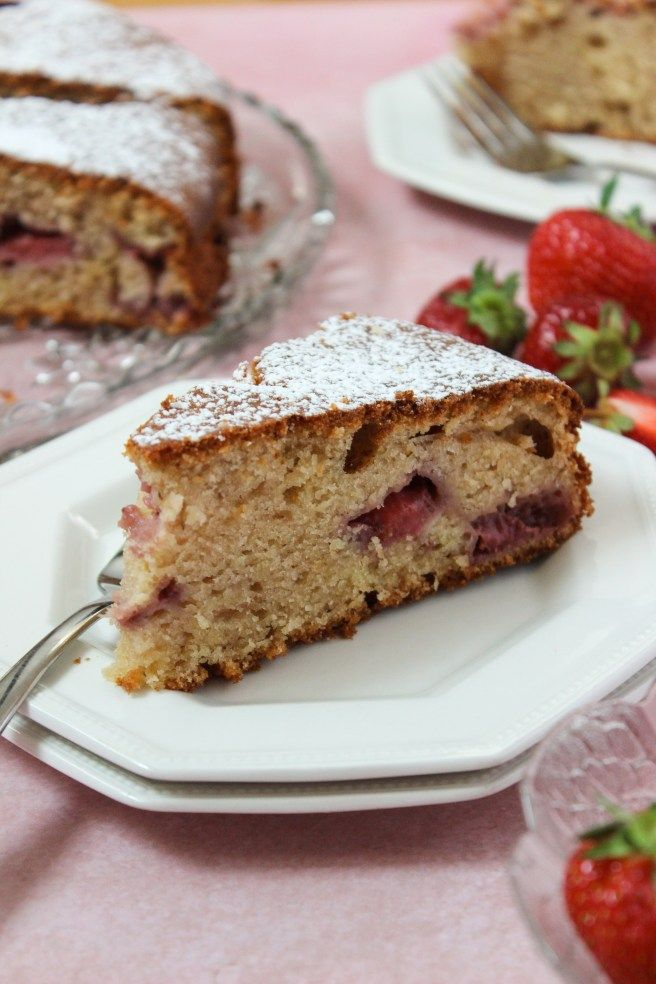 Strawberry Ricotta Cake With Olive Oil Recipe Greek Desserts Ricotta Cake Snack Cake