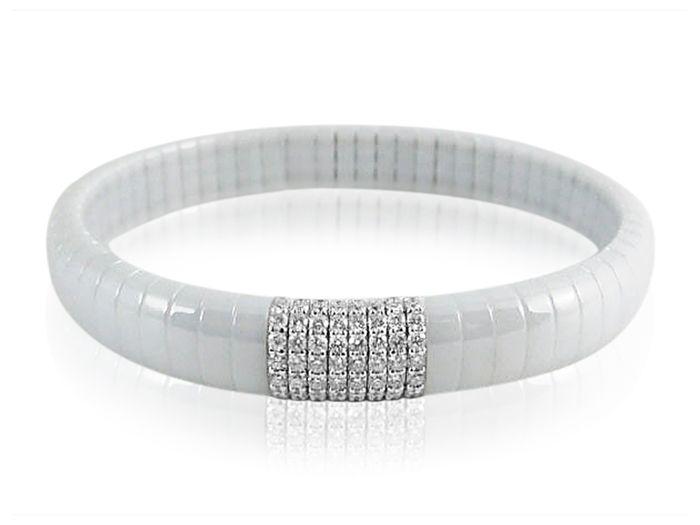 Roberto Demeglio Dama White Ceramic Bracelet with White Diamonds Td2oZviDp1
